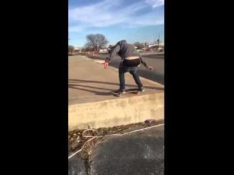180 off of 2 foot ledge in Ponca city ok