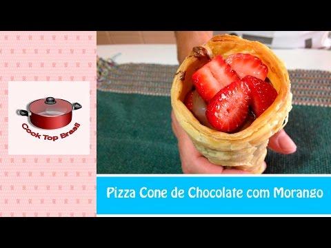Pizza Cone de Chocolate com Morango | Cook Top Brasil #121