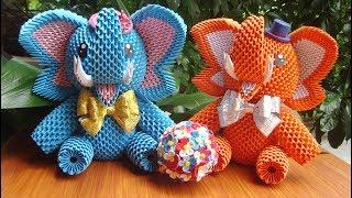 How To Make 3D Origami Elephant | DIY Paper Elephant Home Decoration