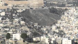 preview picture of video 'View of the City of David (at the Old City of Jerusalem) from the Government House Promenade'
