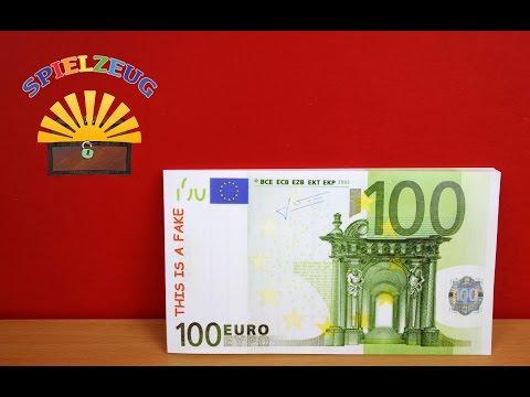 Zum Täuschen echt !! - Block Notizblock Notepad Geldschein Money Design Fake Joke auspacken