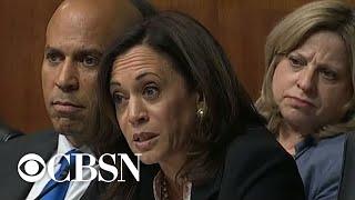Sen. Kamala Harris grills Barr on White House contacts