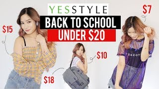 Try on: $400 YESSTYLE CHEAP BACK TO SCHOOL CLOTHES & BAGS | GIVEAWAY