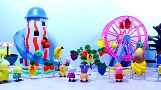 свинка пеппа Peppa Pig. Набор  Fresh Fruit - Play  Doh. Мультфильм с игрушками