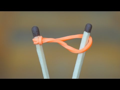 How to Light a Match with a Rubber band