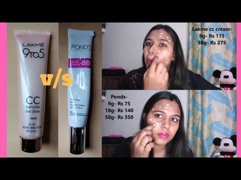 Lakme CC Cream Vs Ponds BB Cream | Review | Demo