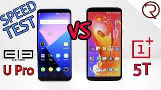Elephone U Pro VS OnePlus 5T SPEED TEST