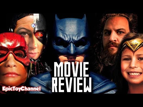JUSTICE LEAGUE Movie Review + Justice League Movie Toys and Kids React Movie Review