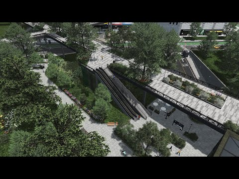 , title : 'Public Park, Elevated Ped Path & Underground Car Park - Cities: Skylines - Neo Kwanghai EP 3