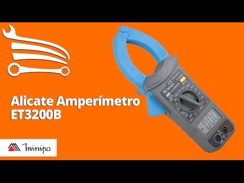 Alicate Amperímetro Digital com Iluminação da Garra - Video