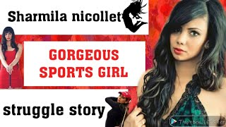 About Indian beautiful golf player Sharmila nicollet age , biography, facts, in Hindi.  IMAGES, GIF, ANIMATED GIF, WALLPAPER, STICKER FOR WHATSAPP & FACEBOOK