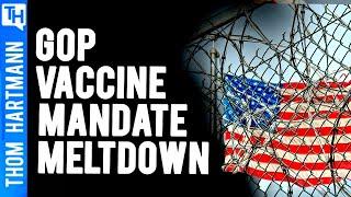 GOP Yelling Medical Jim Crow & Anti-Nazi Code Over Vaccine Mandates