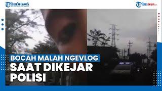 VIRAL Video Bocah Malah Ngevlog saat Dikejar Polisi, Teriak Minta Tolong Diuber Polisi