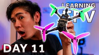 Flying an ACTUAL DJI FPV Drone scares me [Day 11] Learning how to fly a FPV Drone