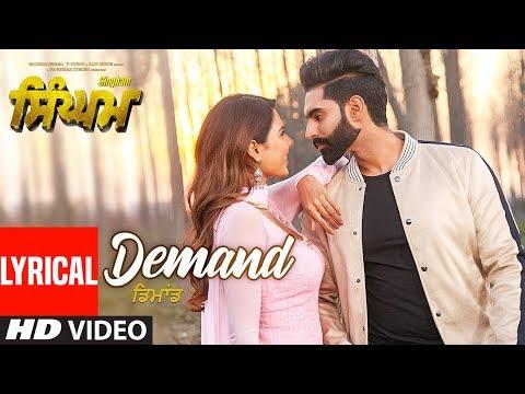 Singham: Demand Lyrical Song | Parmish Verma | Sonam Bajwa | Shipra Goyal | Goldy Desi Crew