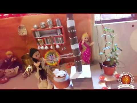 Sudhakar Dokare Home Ganpati Decoration Video