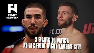 UFC Fight Night Kansas City: 3 Fights to Watch