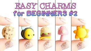 Easy Charms For Beginners #2│5 In 1 Polymer Clay Tutorial