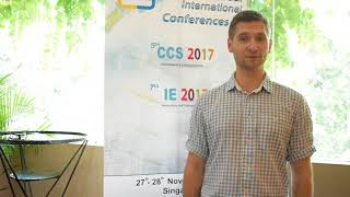 Asst. Prof. Lukasz Malyz at IE Conference 2017 by GSTF