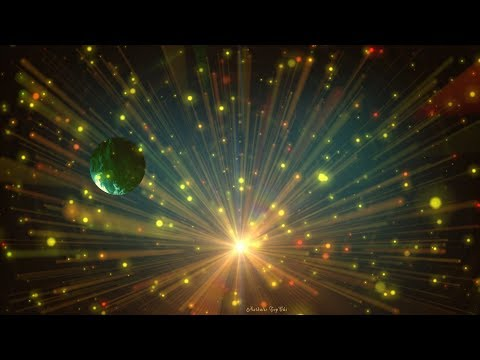 📲Pulsating Particles, Light Rays and a Mysterious Planet 📲 4K Relaxing Screensaver