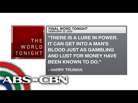 [ABS-CBN]  Final Word – February 22, 2020 | ANC
