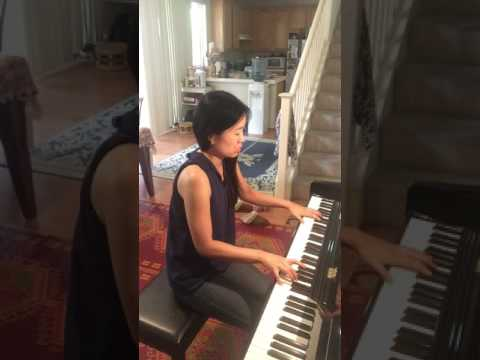 Janice playing Debussy Arabesque 1