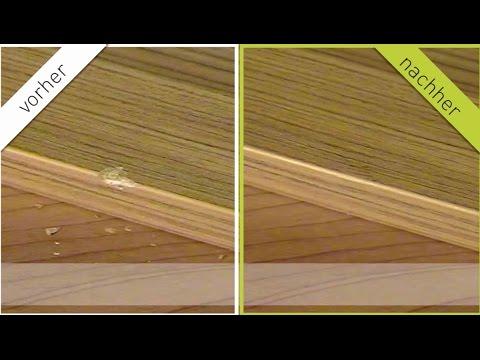 Hartwachs-Holzreparatur bei  Kantenschaden