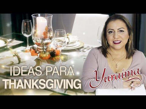 Como decorar la mesa para el Día de Acción de Gracias. Thanksgiving Day!