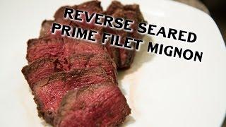 Reverse Seared Prime Filet Mignon on the Napoleon Charcoal Grill