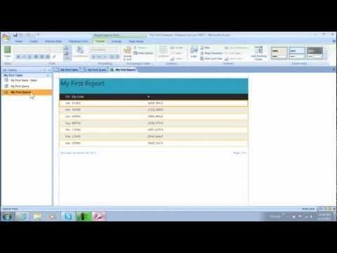 How to Generate Reports in Access Databases (Lesson 4)