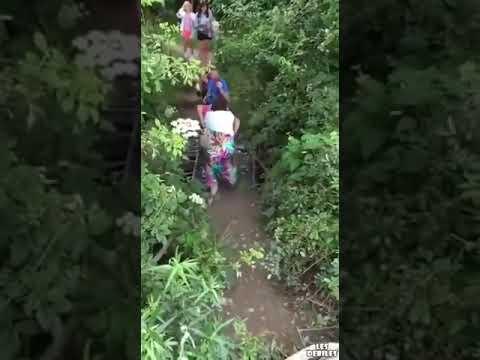 Evangélica cai na pinguela da Barra Mansa