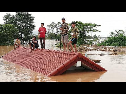 Thousands stranded after dam collapse triggers flash floods in Laos