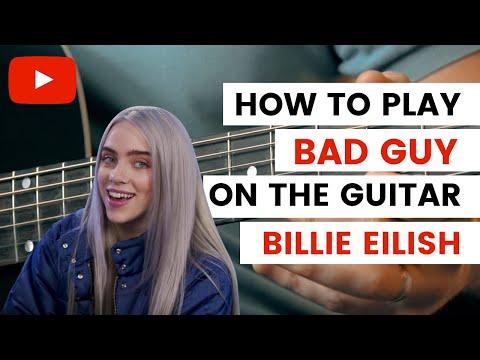 Download Bad Guy Billie Eilish Guitar Tutorial / Bad Guy Guitar // Easy Guitar Tutorial Mp4 HD Video and MP3