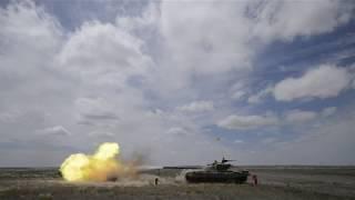 Стрельба из Т-72Б