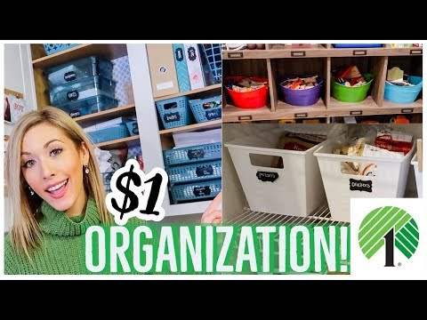 DOLLAR TREE ORGANIZATION | CLEAN WITH ME 2019 DECLUTTER + ORGANIZE CLEANING MOTIVATION