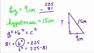 Pythagorean Theorem - Finding A Missing Leg