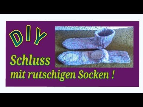 Socken rutschfest machen / Anleitung