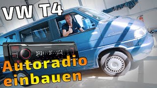 VW T4 Autoradio einbauen | DAB+ im Auto nachrüsten | KMM-BT407DAB