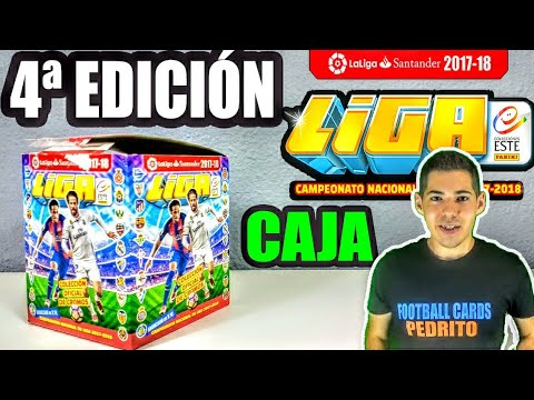Unboxing CAJA COMPLETA CUARTA EDICIÓN LIGA ESTE 2017-18 / Panini Cromos