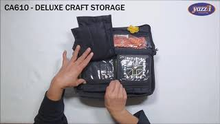 CA610 Deluxe Craft Storage   Yazzii Craft Bags   Multi-purpose Craft Organizers