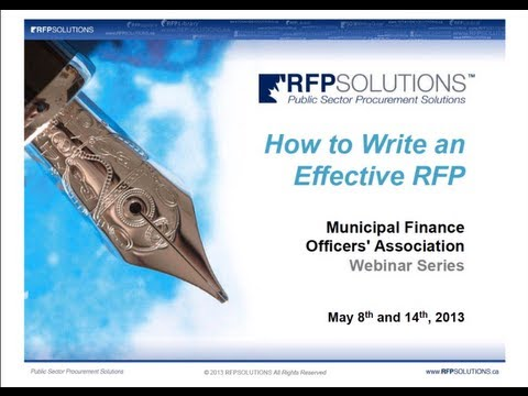 How to Write an Effective RFP