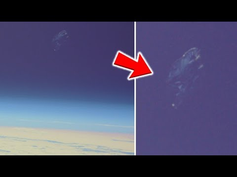 Black Knight Satellite Orbiting Earth Filmed In Orbit By International Space Station