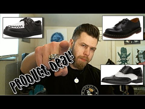 3 alternative greaser/rockabilly shoes (product deal)