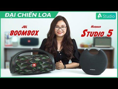 [Đại chiến loa] JBL Boombox vs Harman Kardon Onyx Studio 5| Con nào hơn???