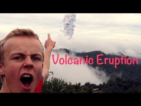 CRAZY VOLCANIC ERUPTION - INDONESIA!