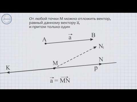 Откладывание вектора от данной точки