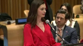 Anne Hathaway On International Women's Day