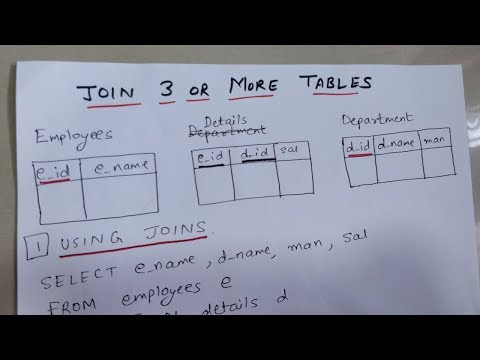 HOW TO JOIN 3 OR MORE TABLES IN SQL   TWO WAYS