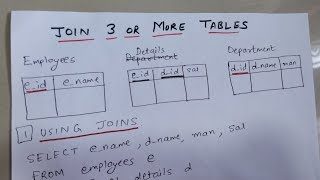 HOW TO JOIN 3 OR MORE TABLES IN SQL | TWO WAYS