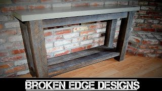 RECLAIMED Wood Entryway Table